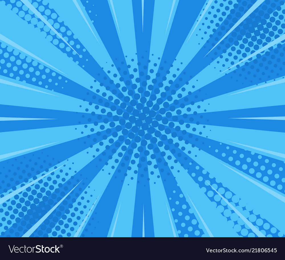 Blue retro vintage style background with rays