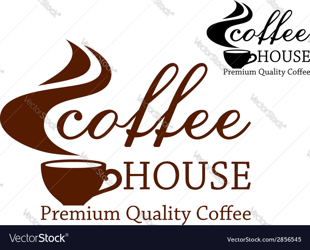 Coffee retro emblem vector image