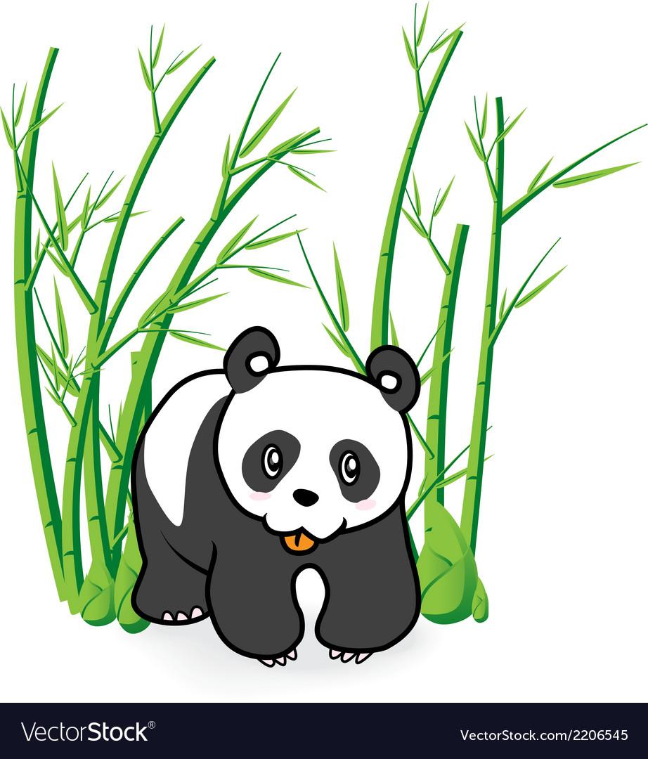 Cute Panda Bear in Bamboo Forrest 04