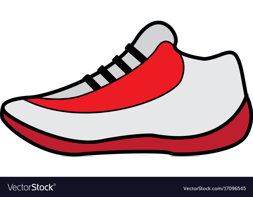 flat color basket shoes icon royalty free vector image rh vectorstock com victor shoes sh8500d vector sports car