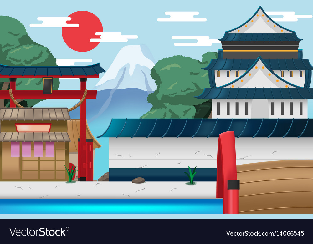 Japan travel old city background