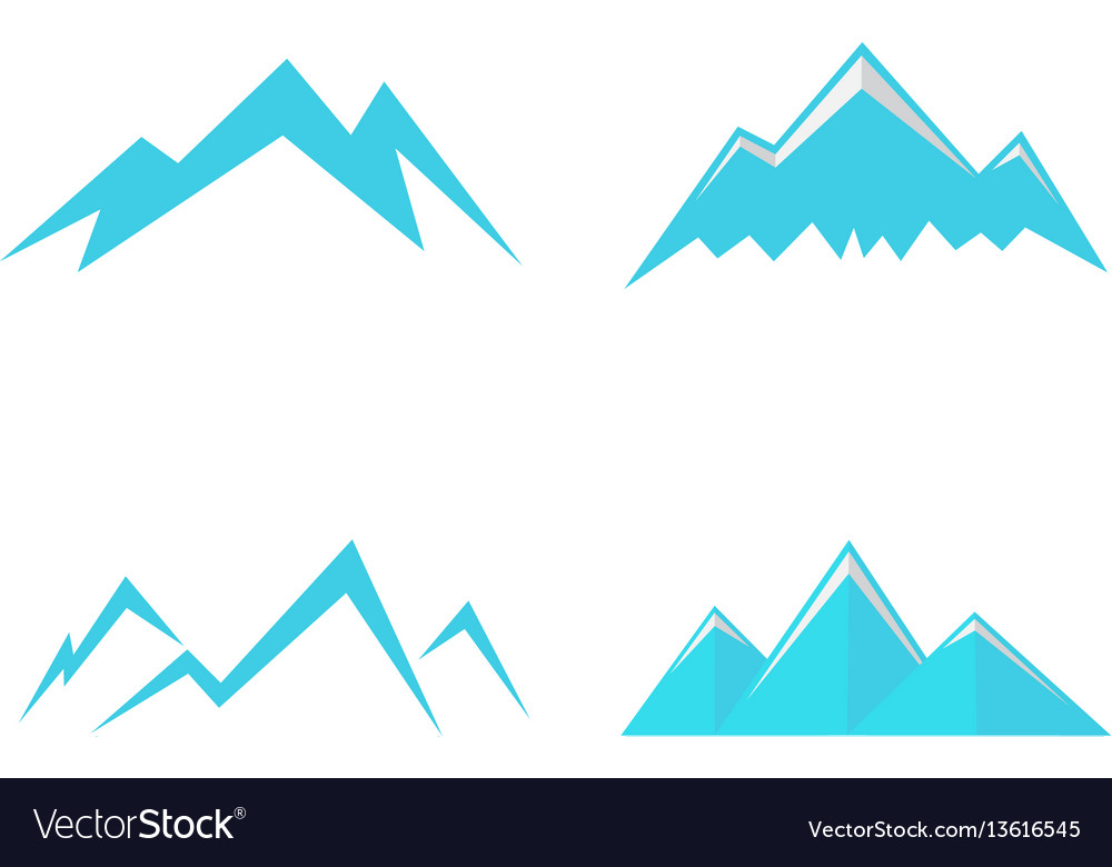 Mountains icons and symbols