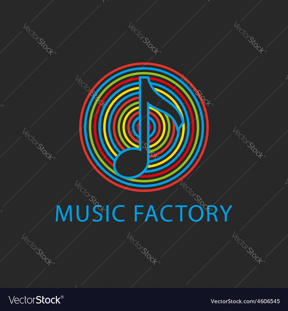 Music colorful logo template design note icon