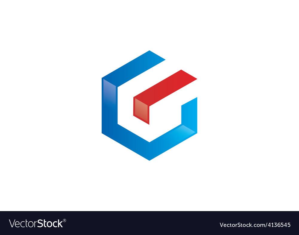 Polygon letter g geometry logo