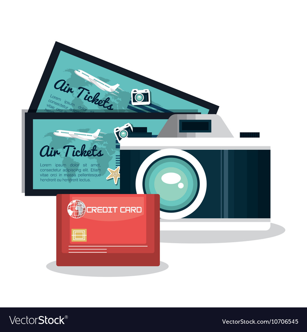 Set vacation credit card camera and tickets