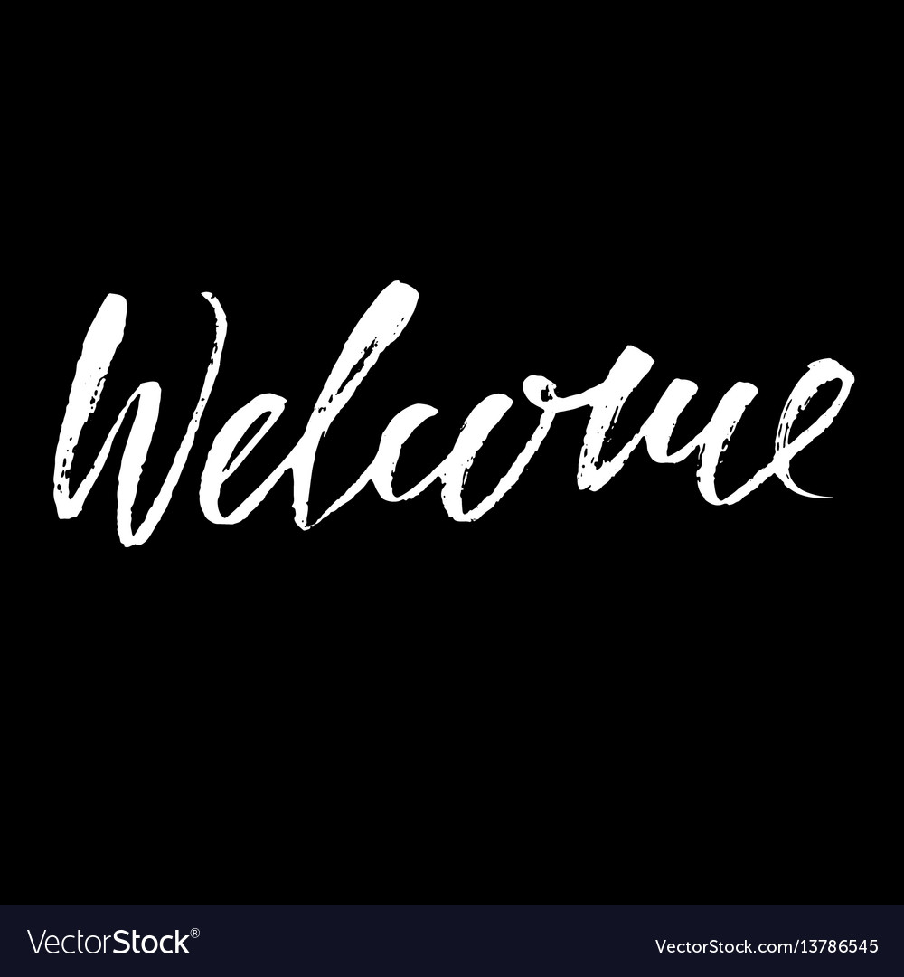 Welcome inscription greeting card with