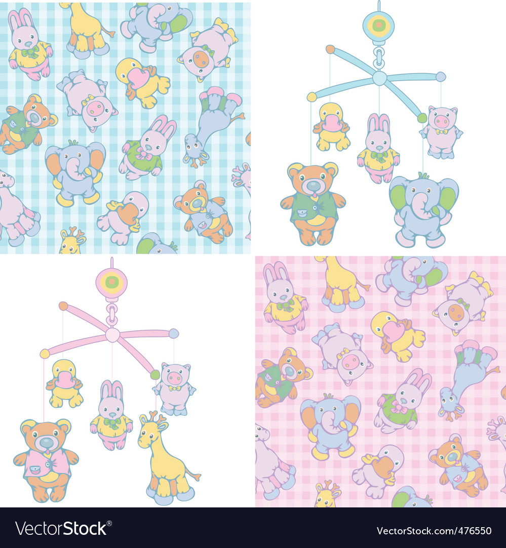 Baby's mobile vector image