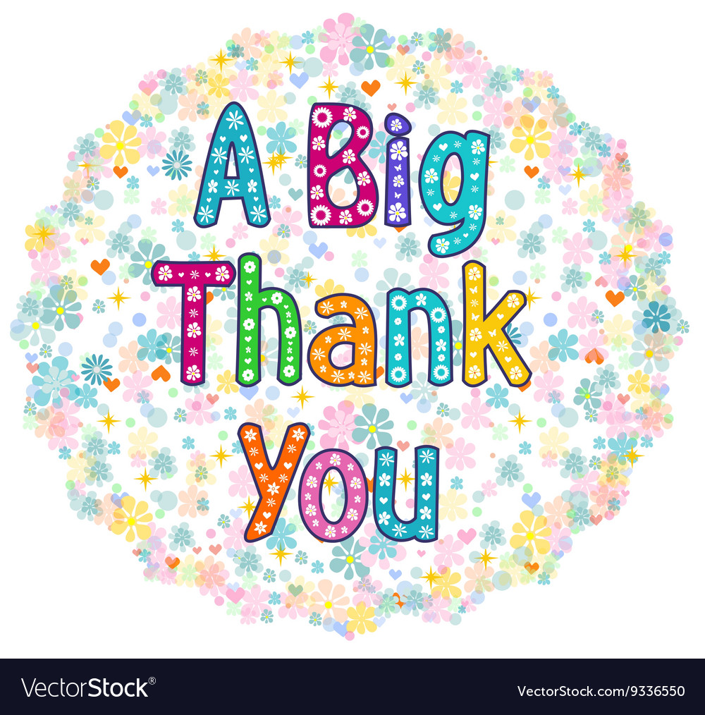 Big thank you greeting card royalty free vector image big thank you greeting card vector image m4hsunfo