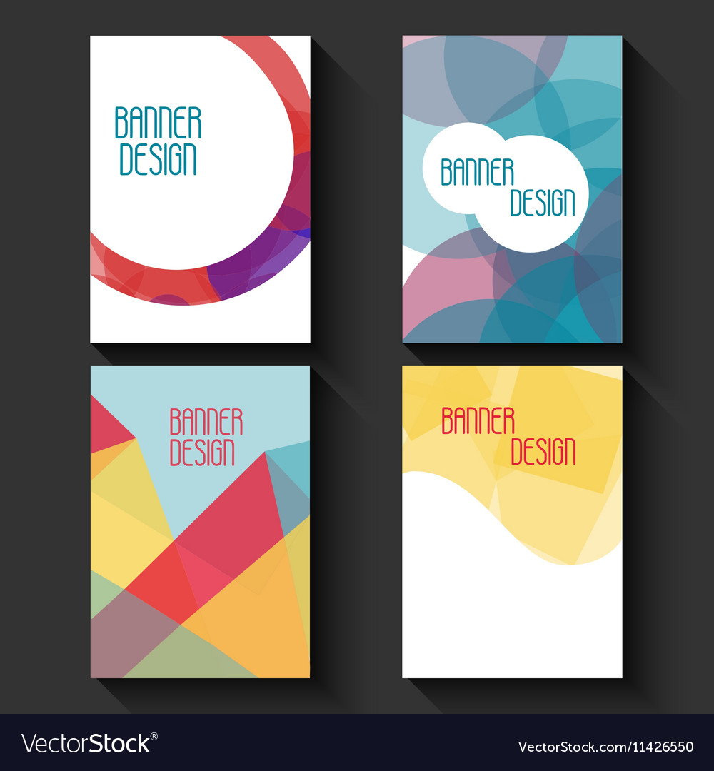 Geometric business templates for brochure flyer