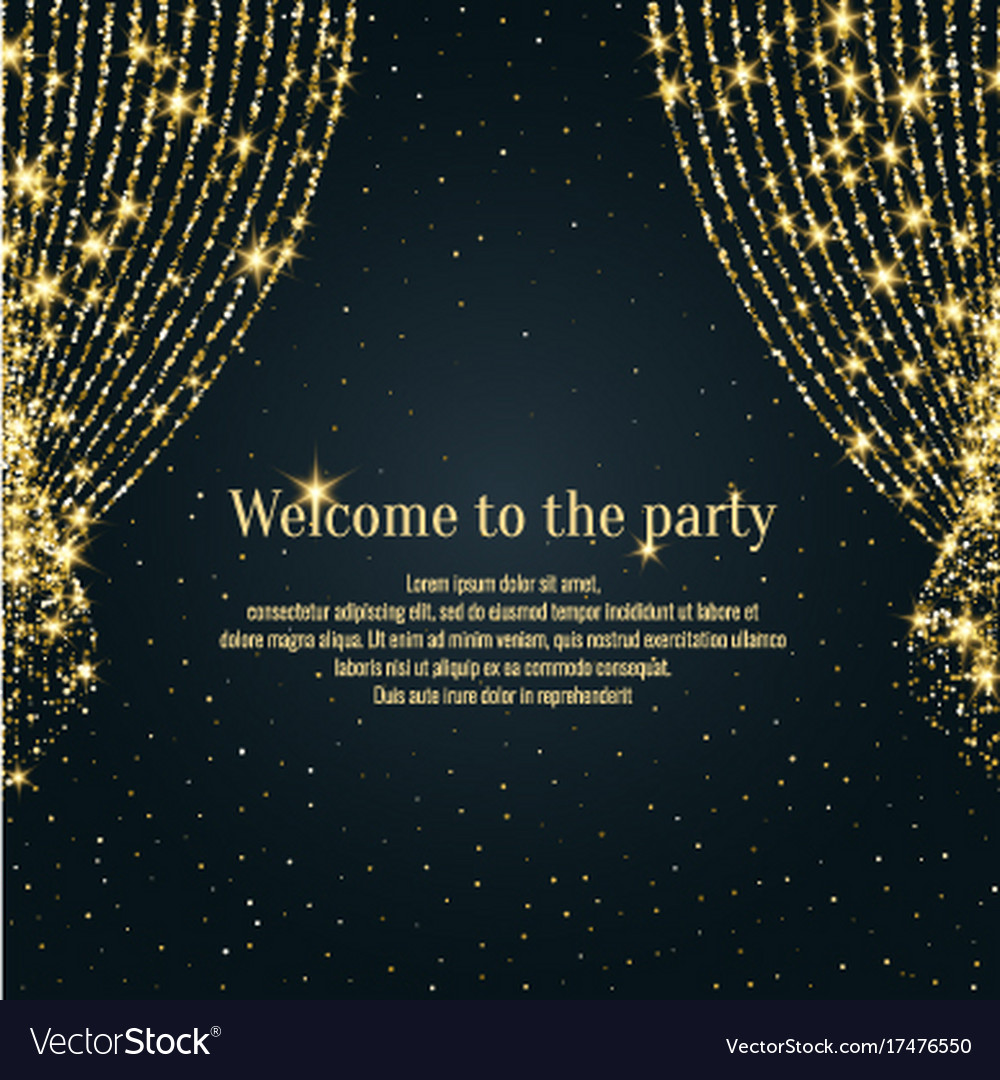 Invitation Template For The Event Background Open Vector Image