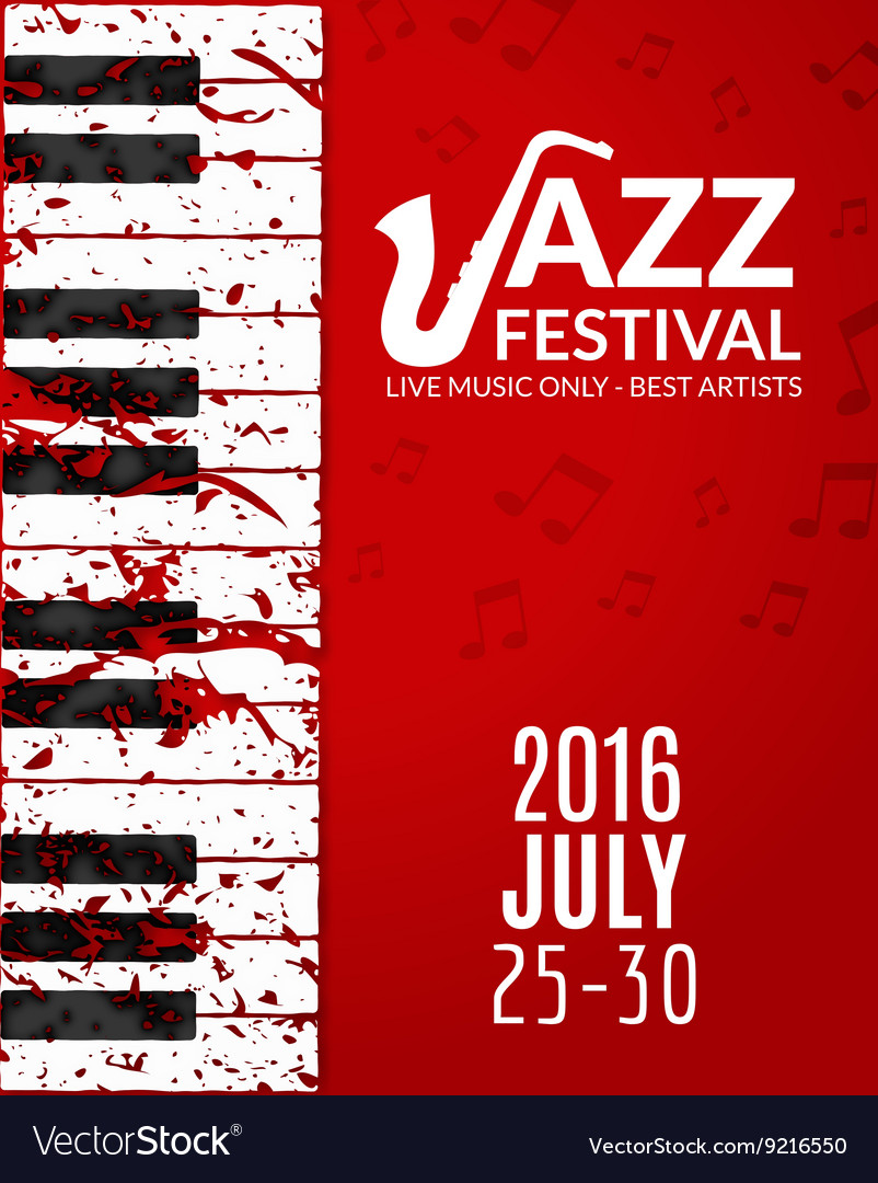 Jazz festival poster with a saxophone Musical