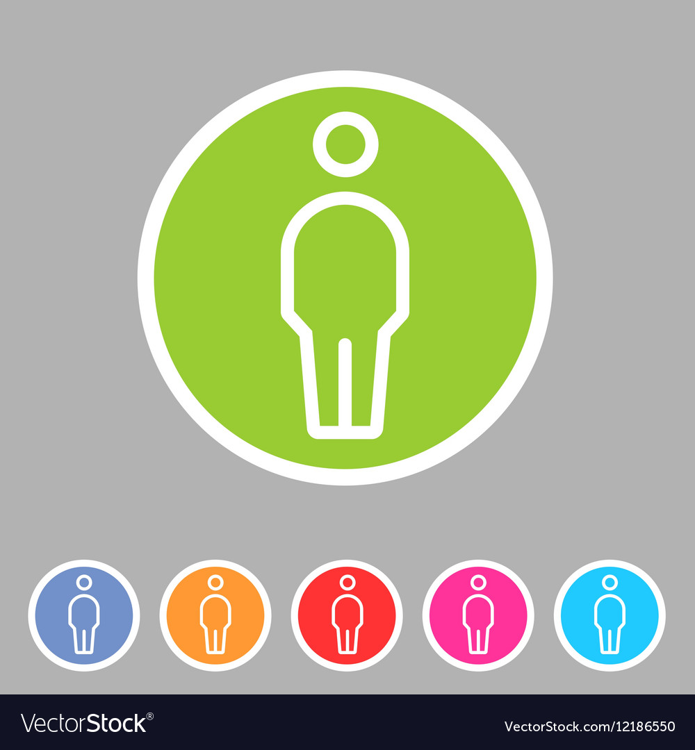 Person men user icon flat web sign symbol logo vector image