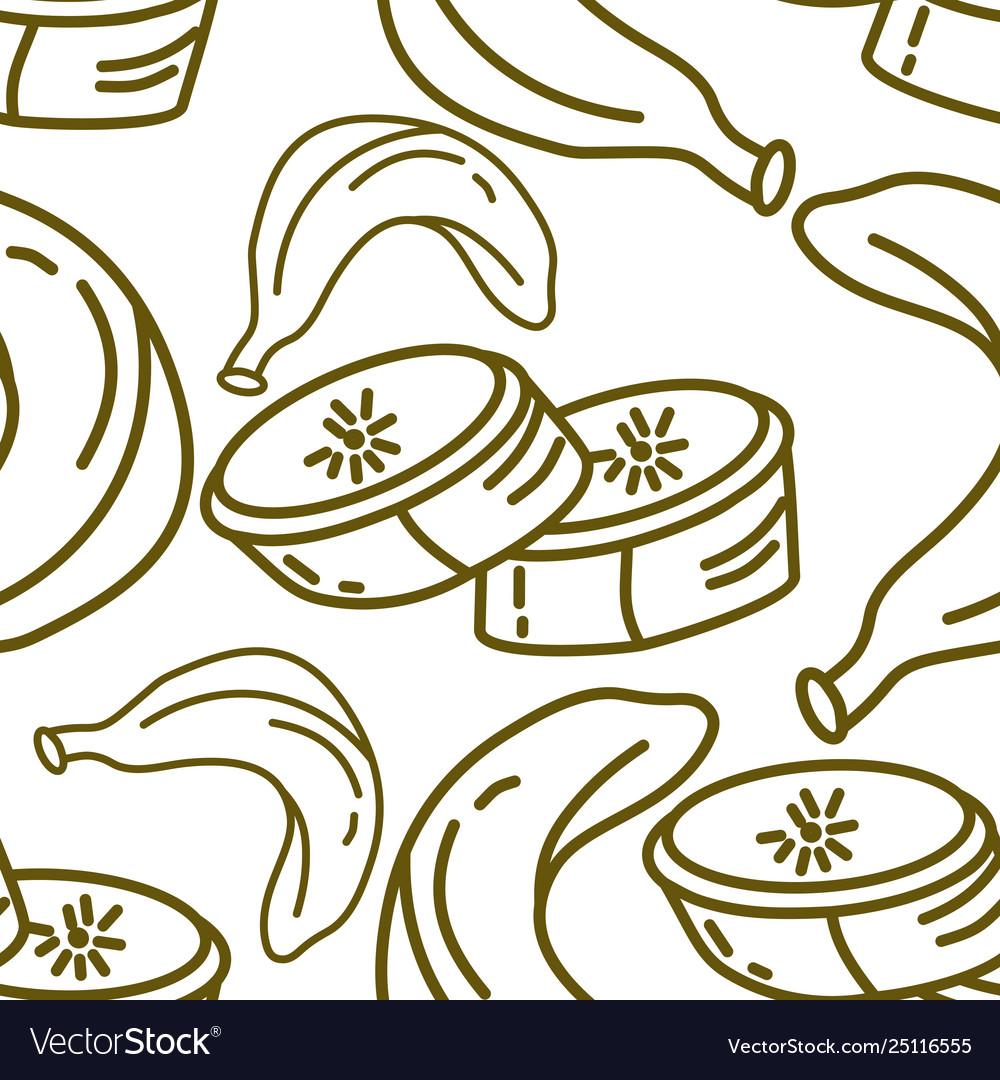 Banana fruit pattern seamless template