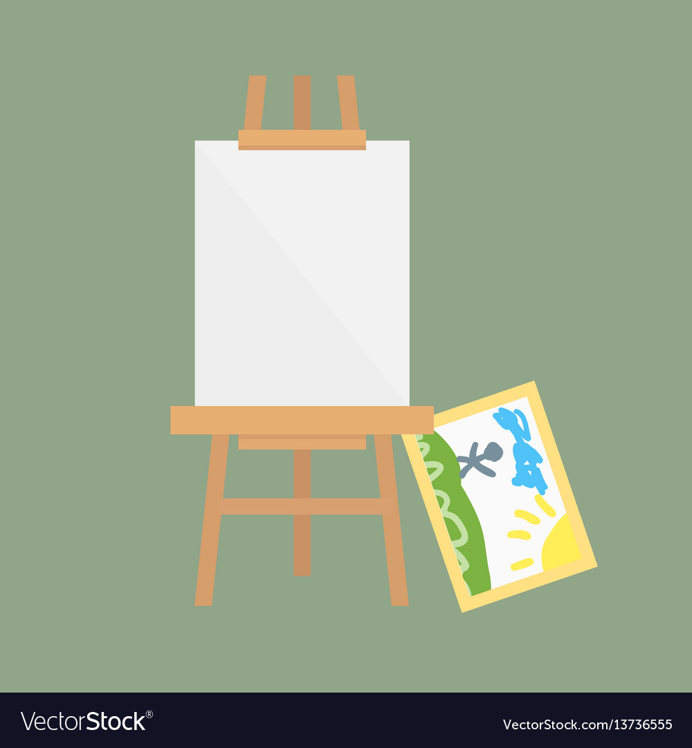 Easel art board isolated for some artist