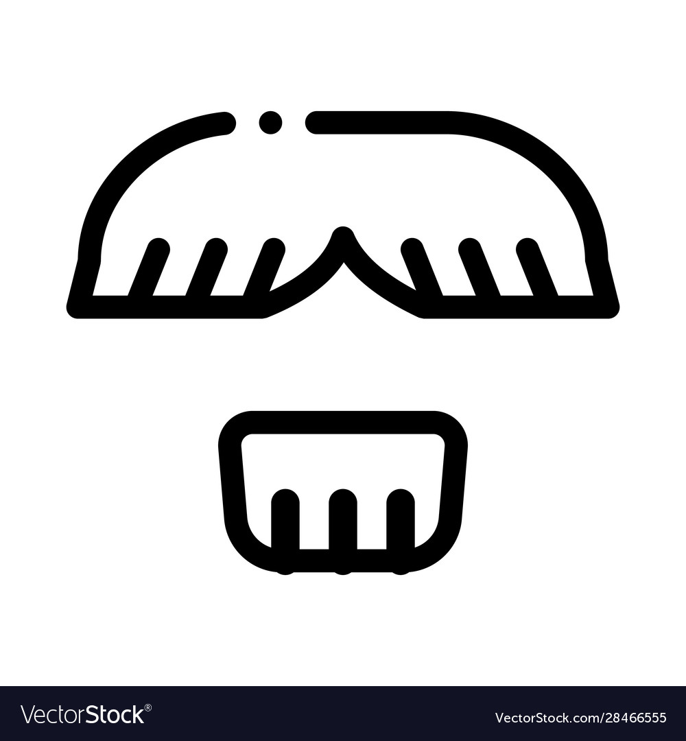 Face mustache chin hair icon outline