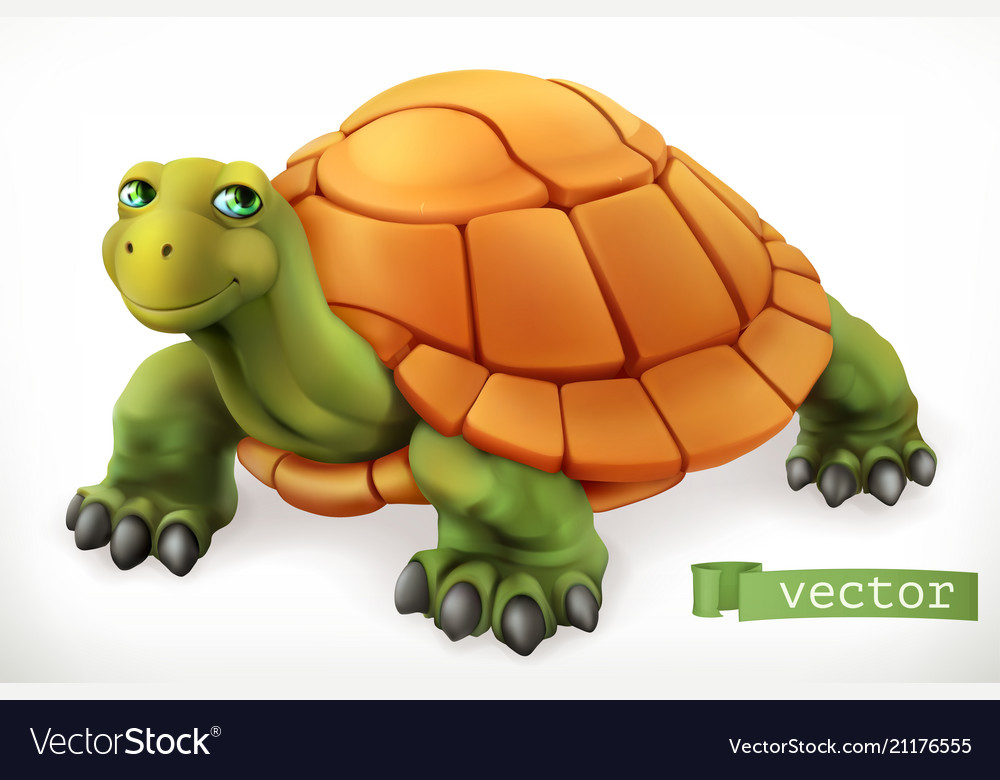 Funny turtle 3d icon