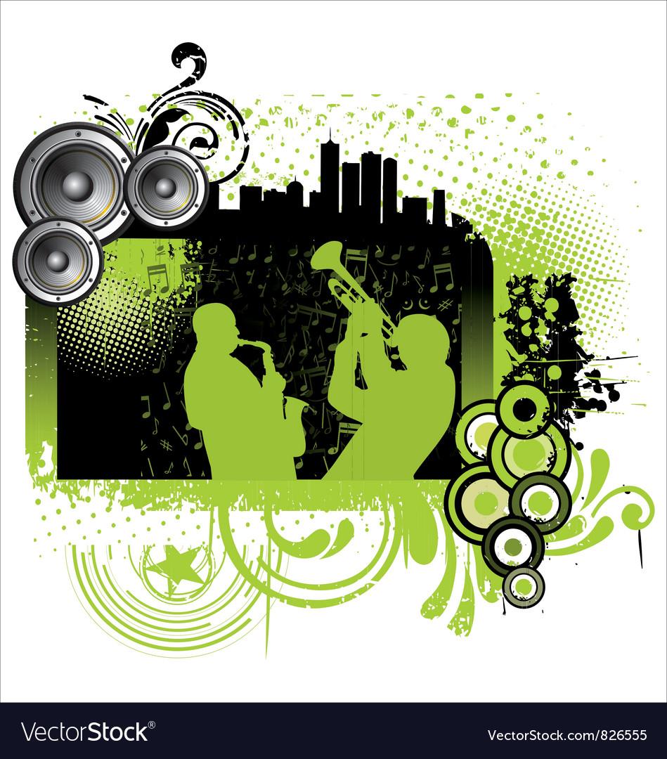 Grunge jazz music background