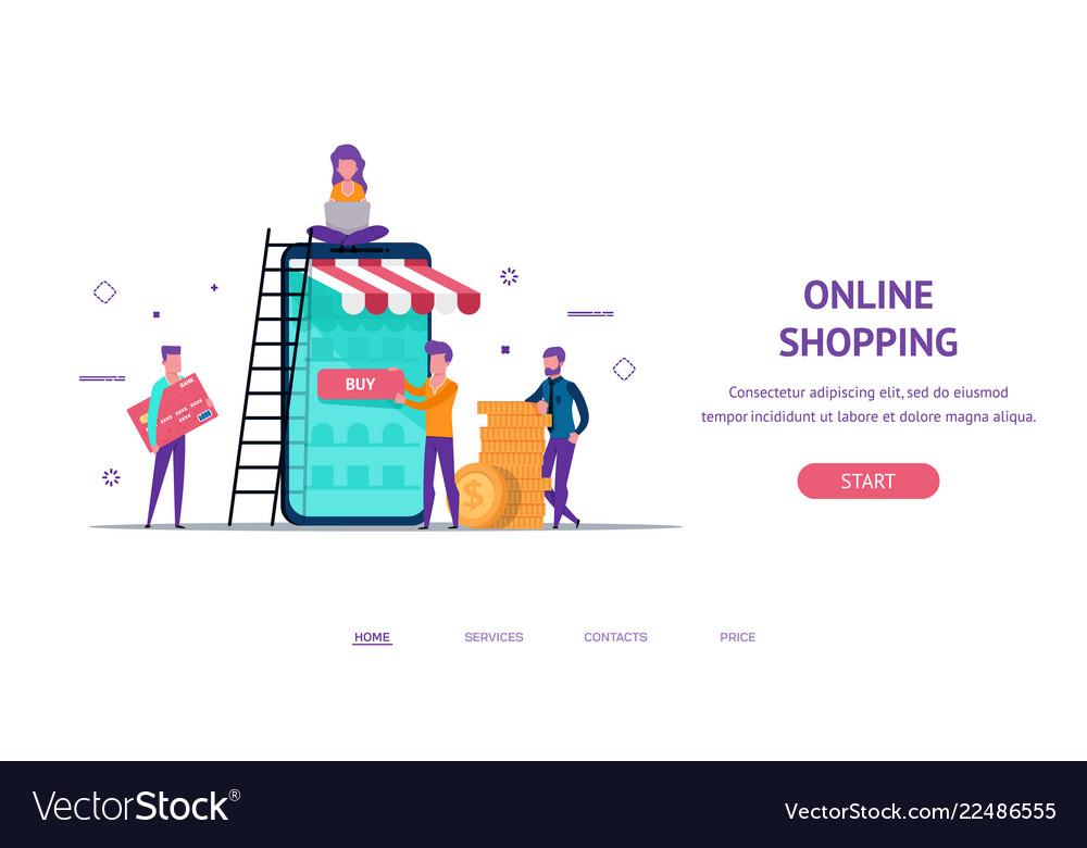 Landing concept for online shop