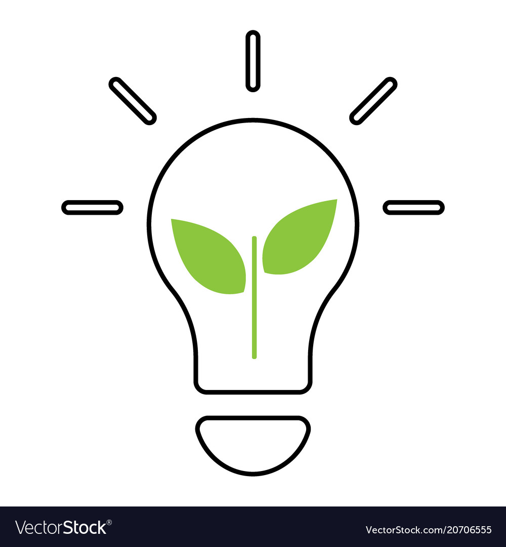Lightbulb ecology concept