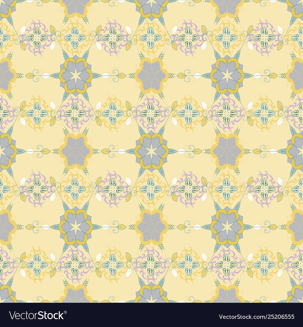 Ornate pattern with mandala elements