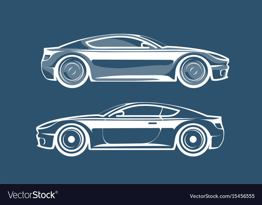 Sports car silhouette race vehicle automobile