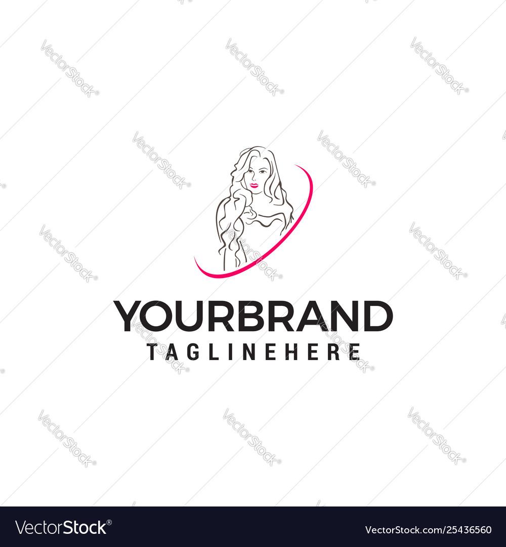 Beauty women logo design concept template