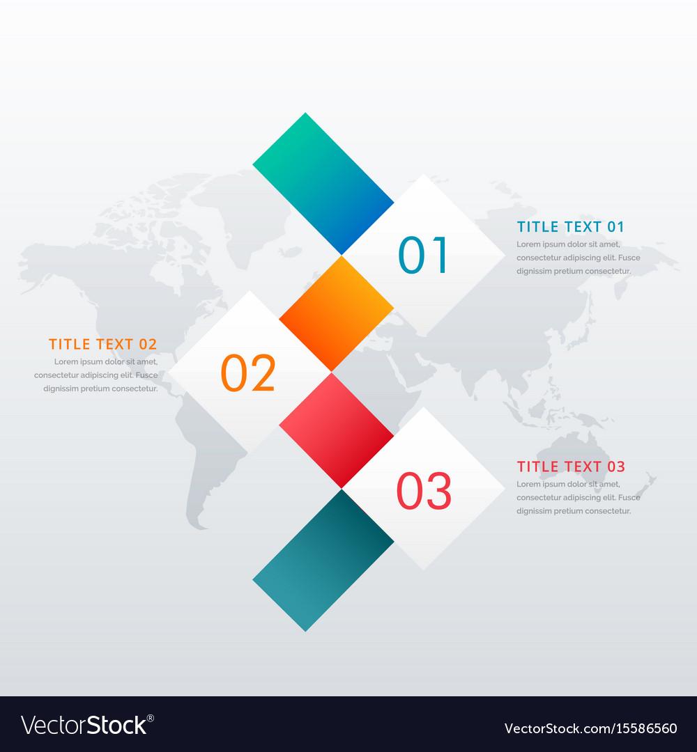 Creative three steps infographic design template