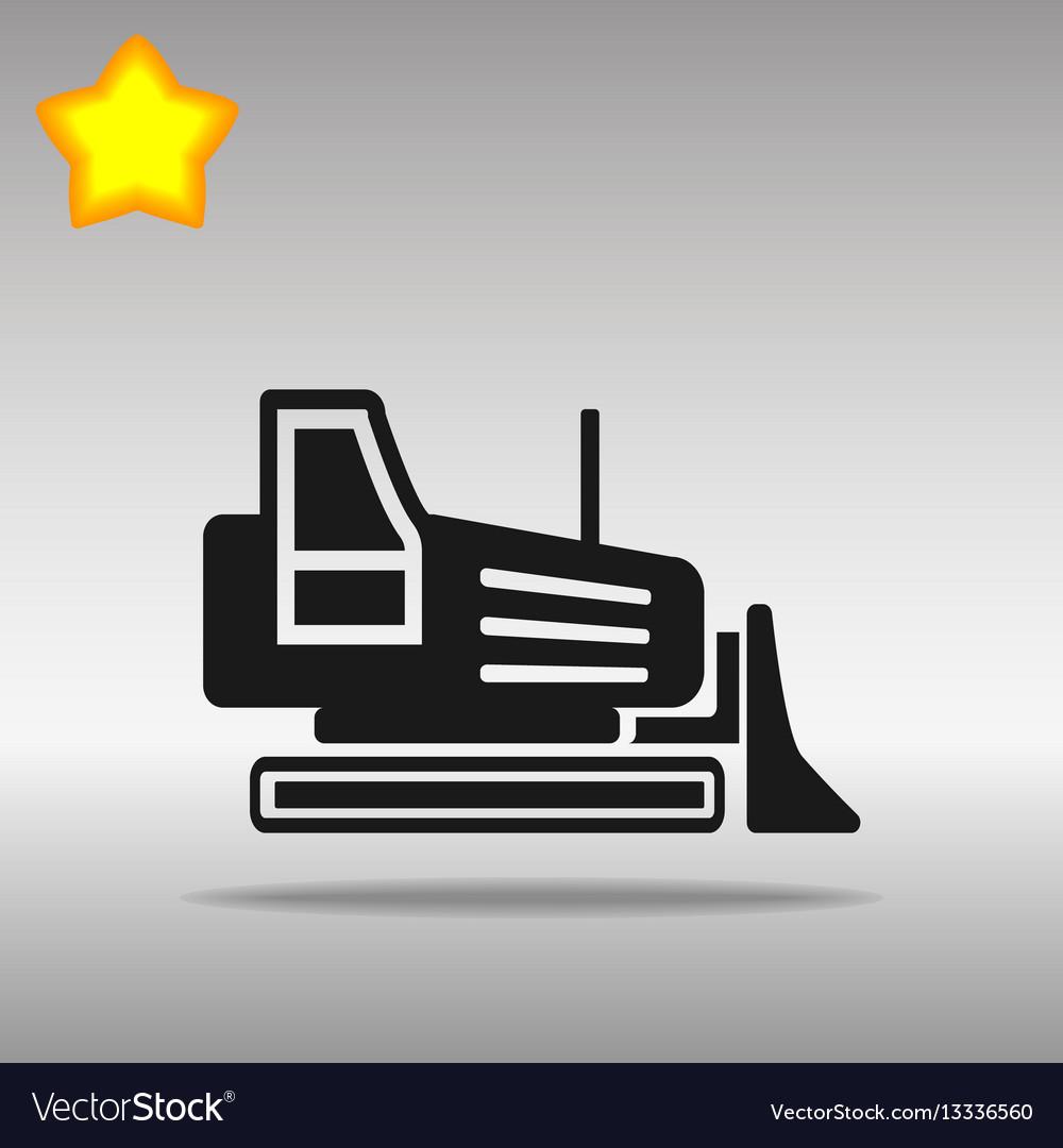 Excavator bulldozer grader vector image