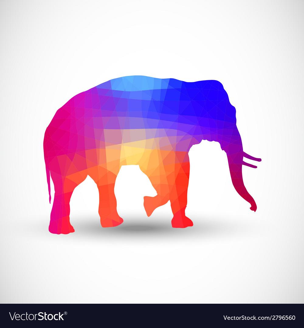 Geometric silhouettes animals Elephant