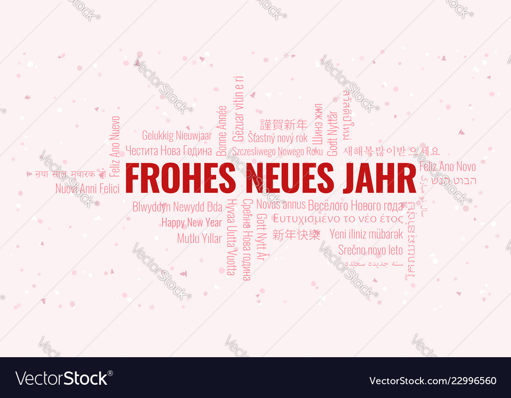 happy new year text in german frohes neues jahr vector image