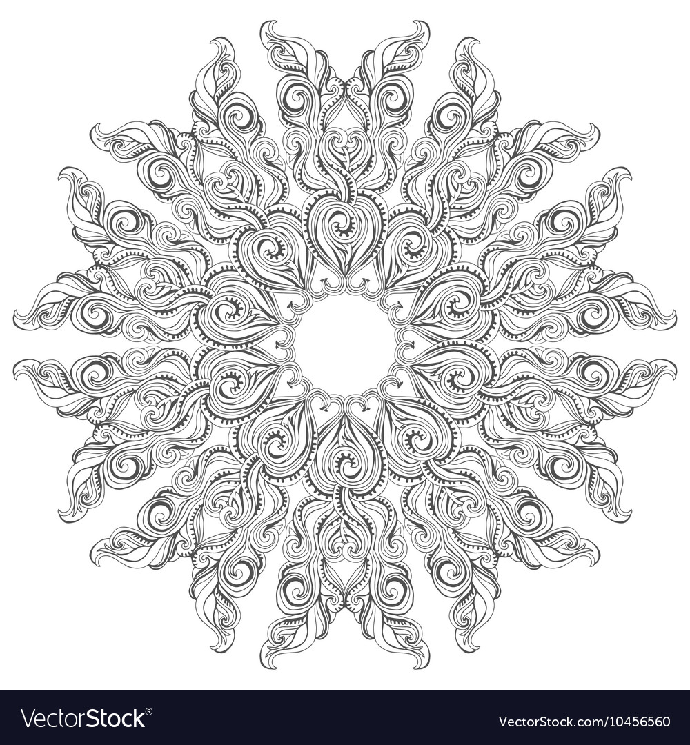 - Mandala Coloring Book Page For Adults And Kids Vector Image