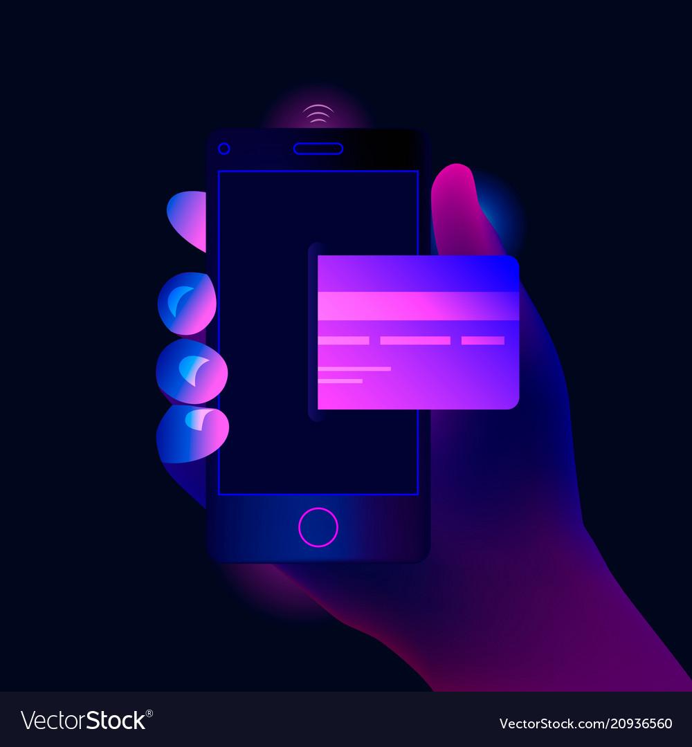 Online mobile payment concept