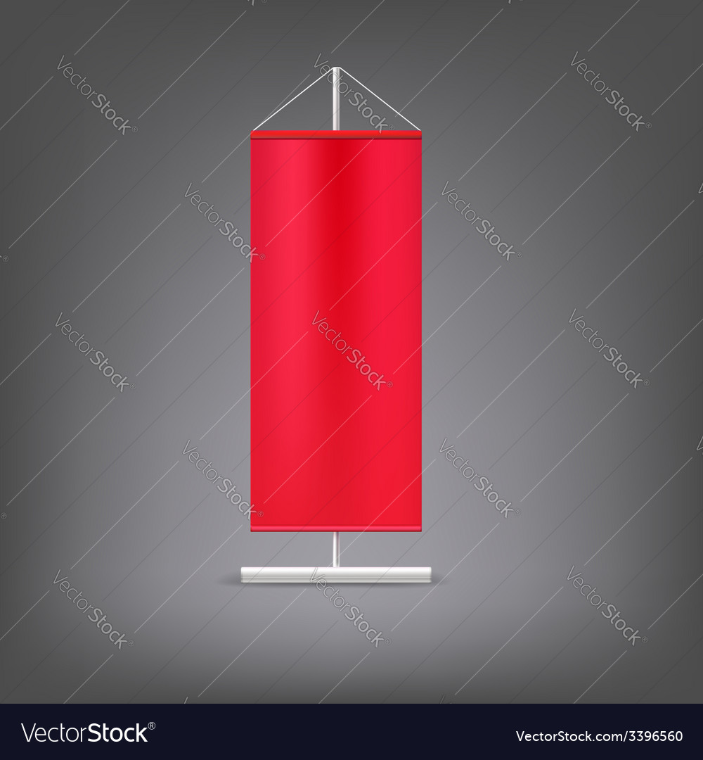 Red advertising stand Blank