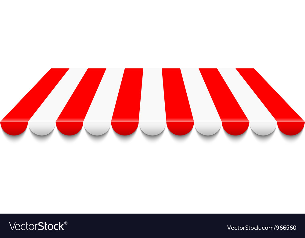 Red awning vector image