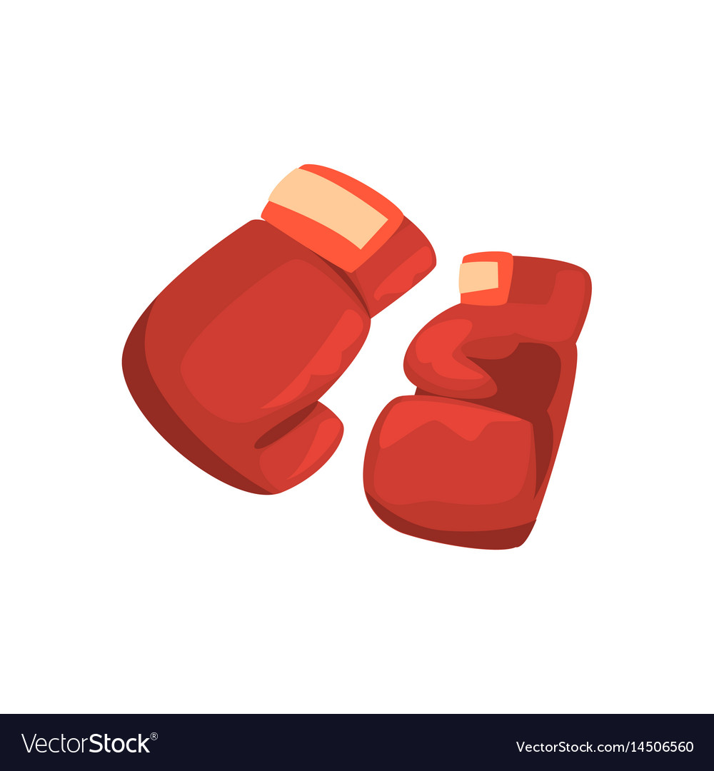 Red boxing gloves sports equipment colorful