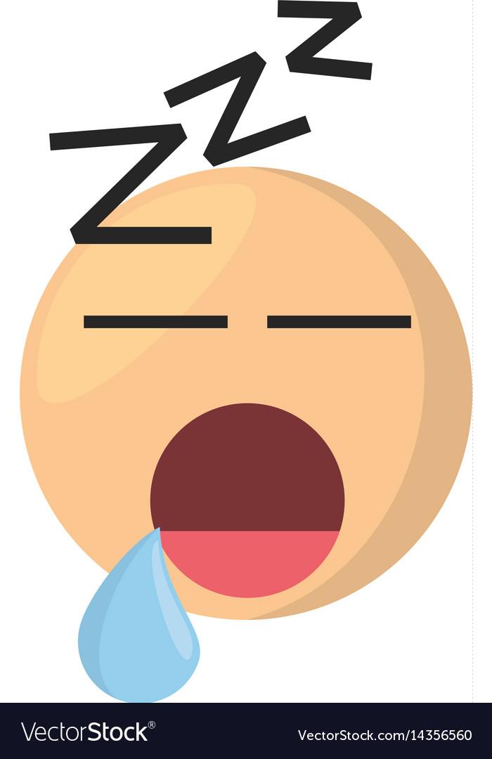 Sleeping emoticon cartoon icon vector image