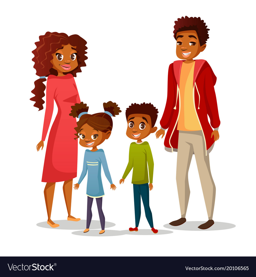 Afro american family