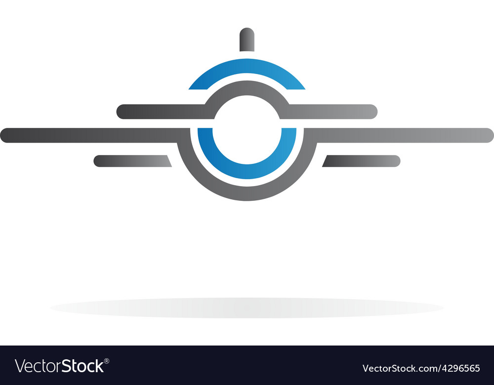 airplane logo royalty free vector image vectorstock