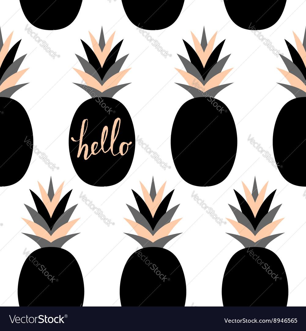 Black Pineapples Pattern