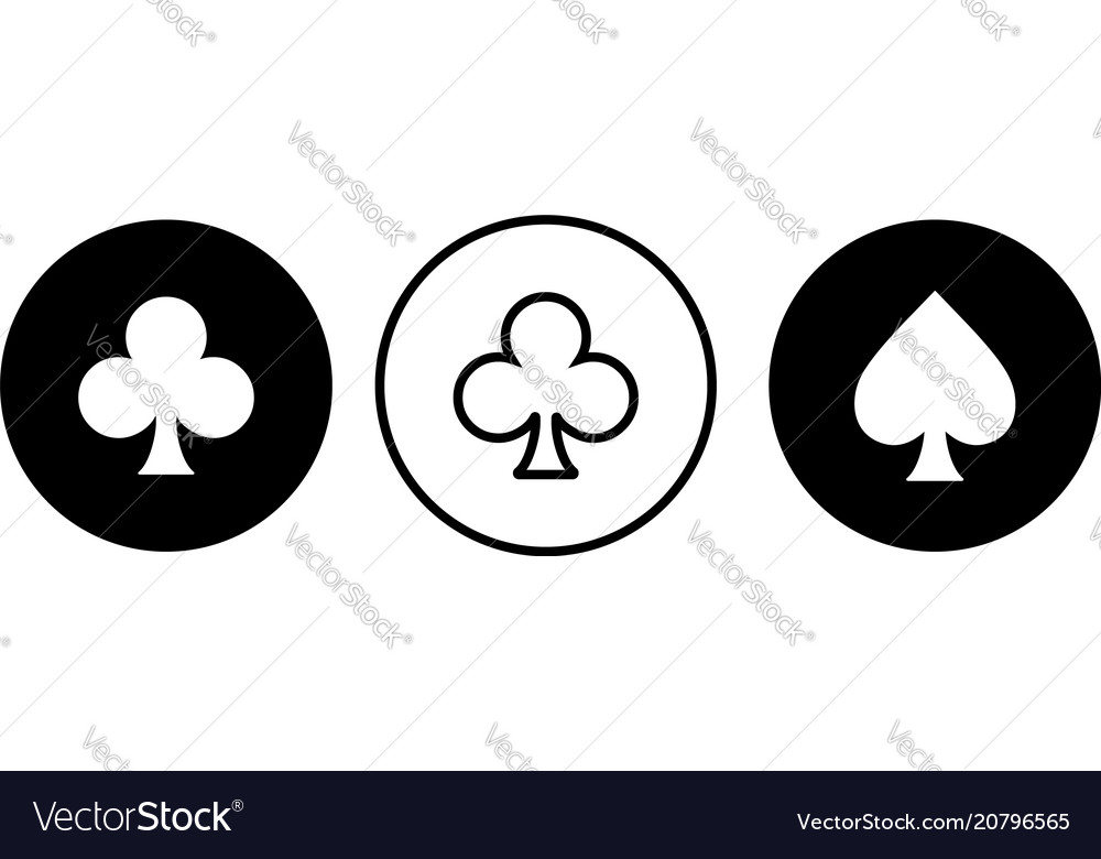 Clubs suit icon vector image