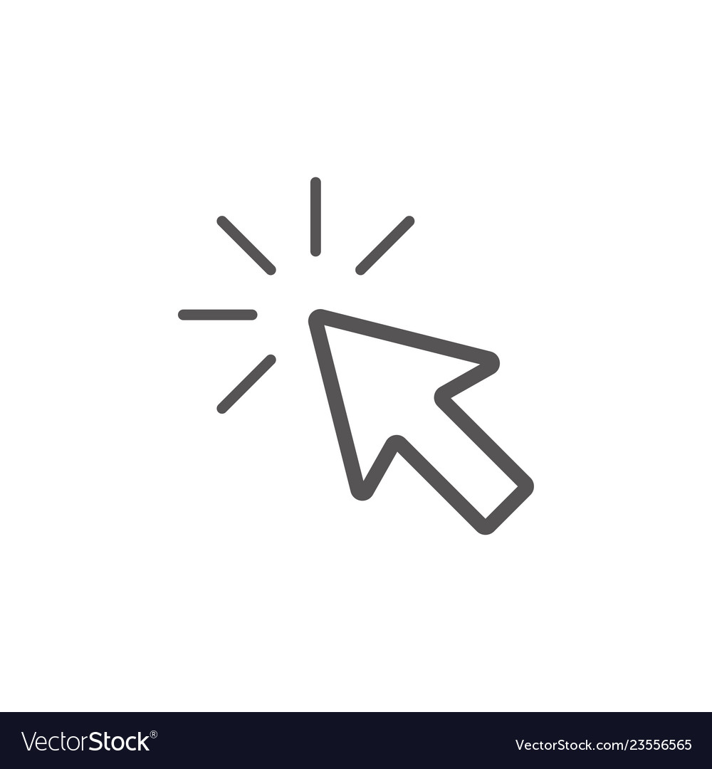 Cursor click icon graphic design template
