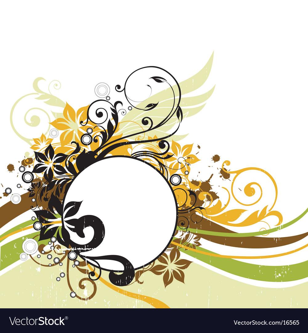 Floral graphic background frame vector image