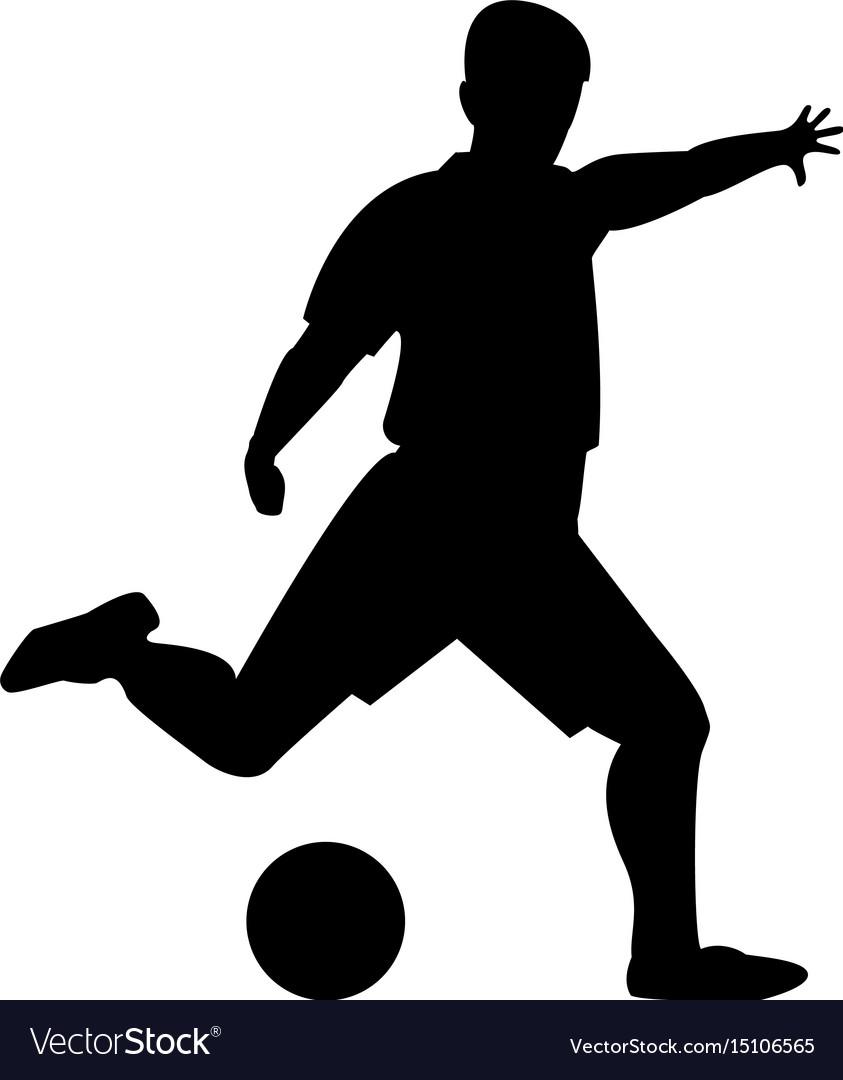 Footballer the black color icon