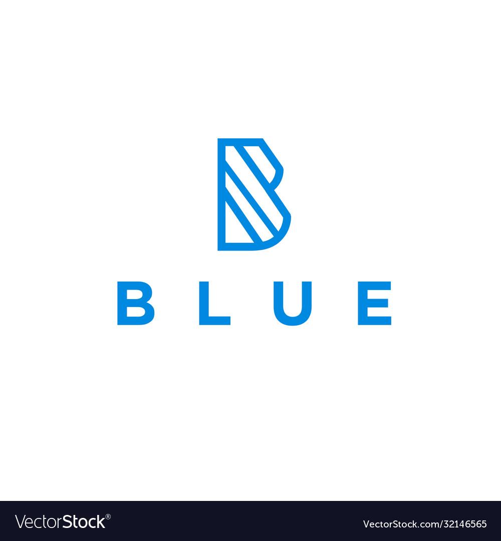 Initial b with blue logo design