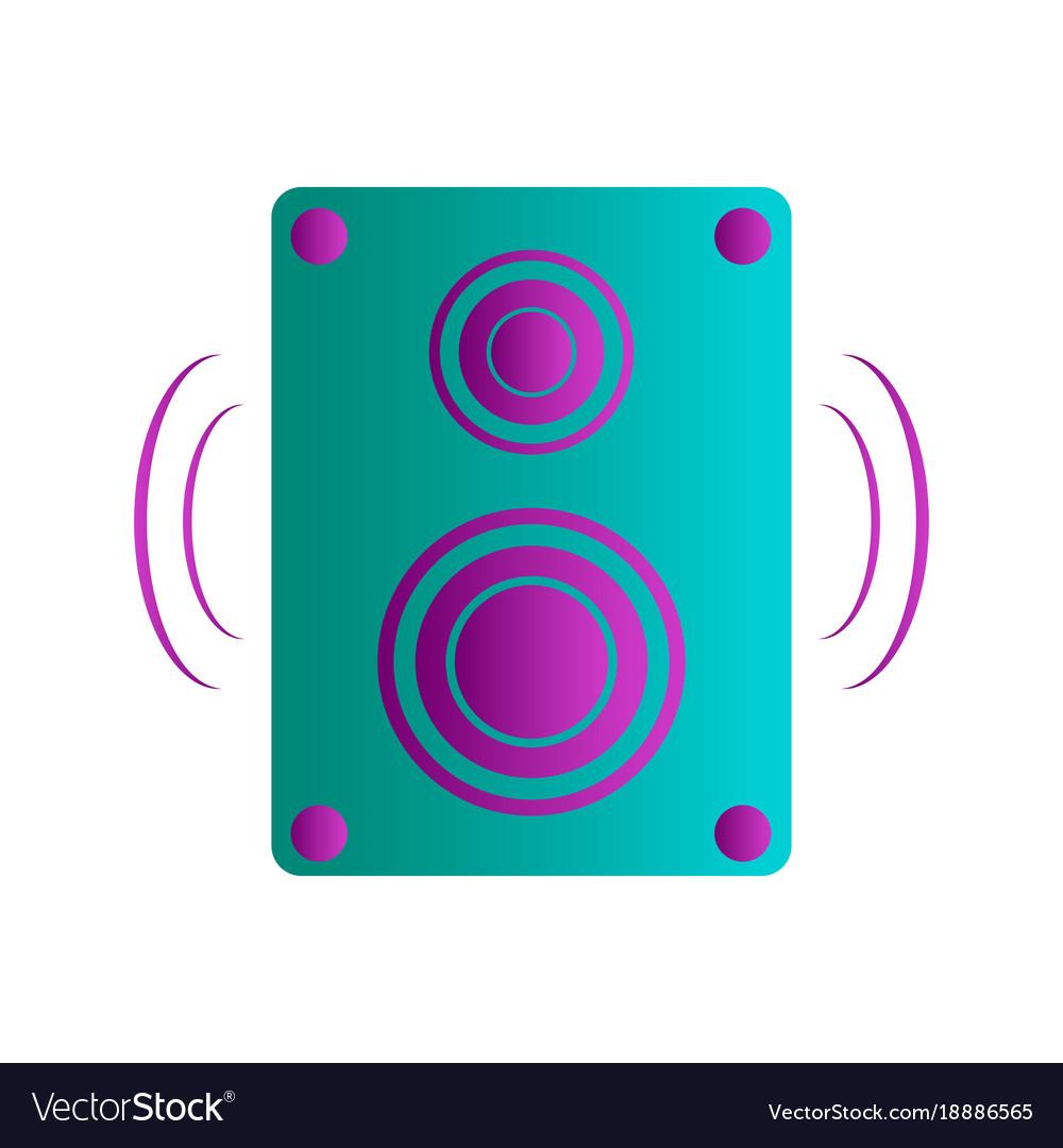Isolated speaker vector image