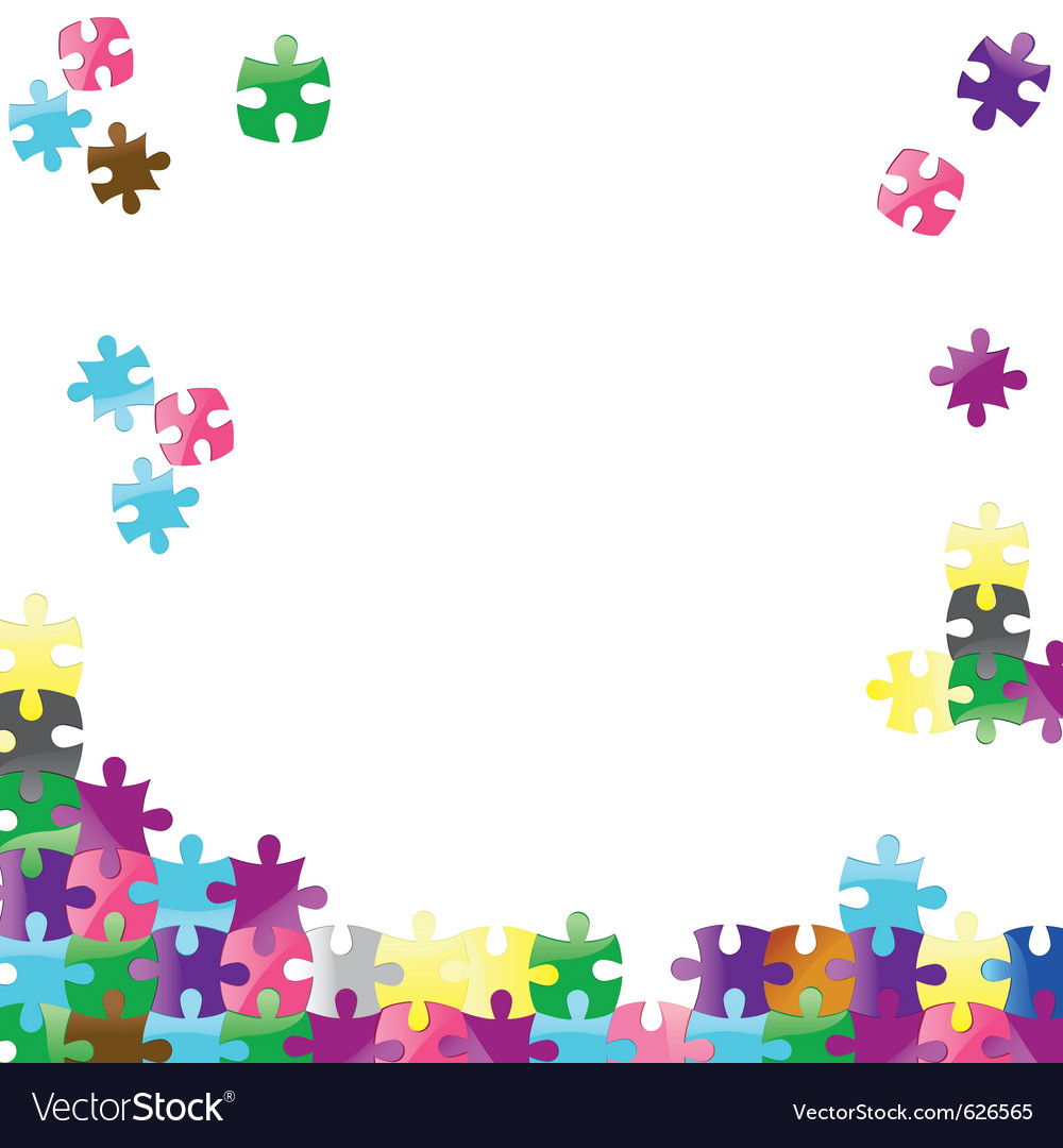 Jigsaw puzzle connection background abstract