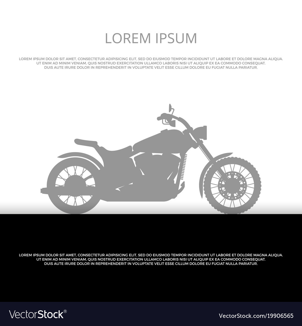 Sport motorbike silhouette poster design vector image