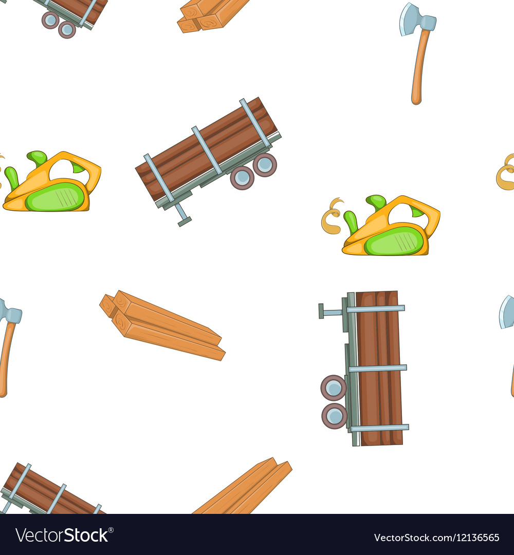 Timber elements pattern cartoon style