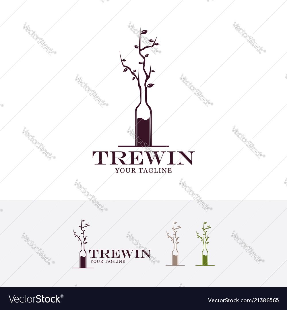 Tree in bottle logo