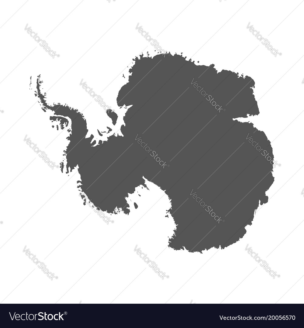 Antarctica map black icon on white background vector image gumiabroncs Images